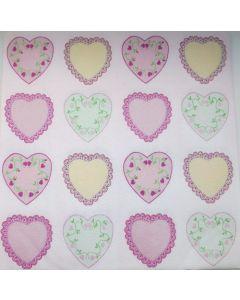 Sovie home tekstil serviet  - 40x40 cm - 12 stk Sweet love
