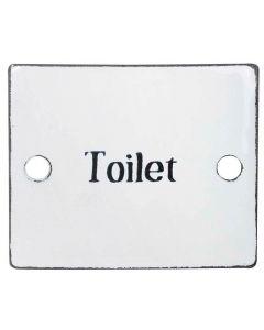 Skilt Emalje - Toilet