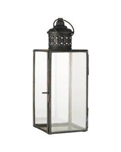 Lanterne m/filigran sort - 11x29cm