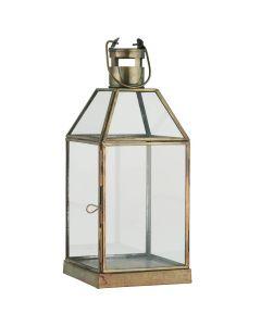 Lanterne Matheo messing - 14x35cm