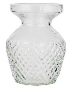 Vase glas m/bred kant 10cm