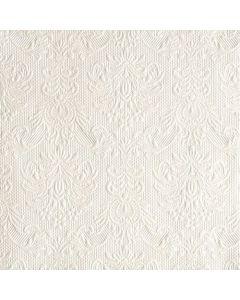 Ambiente 3-lags 33x33 cm serviet - 15 stk elegance pearl white