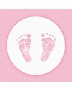 Ambiente 33x33 cm serviet - 20 stk Baby Steps Girl