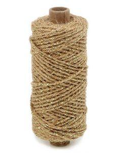 Snor flaxcord natur/Sølv 50m