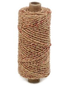 Snor flaxcord natur/kobber 50m
