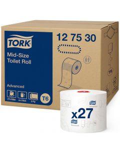 Tork Mid-Size Advanced T6 Toiletpapir 27rl