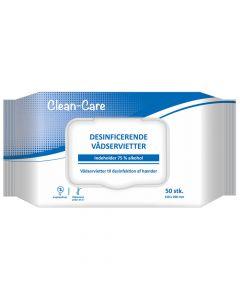 Desinfektionsserviet til hænder - 50stk