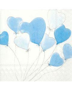 IHR Love is in the air Light blue serviet 33x33cm 3lags 20stk
