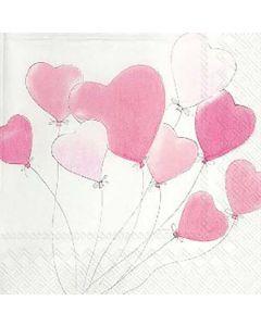 IHR Love is in the air light rose serviet 33x33cm 3lags 20stk