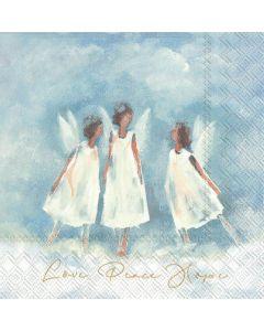 IHR Kaffeserviet 25x25cm 3-lags 20stk - Love Peace Hope