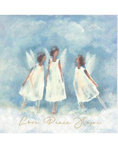 IHR Frokostserviet 33x33cm 20stk - Love Peace Hope