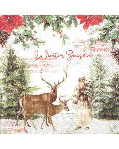 IHR Frokostserviet 33x33cm 20stk - Winter Season