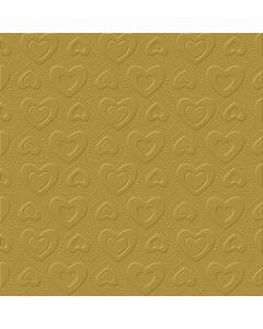 IHR carino uni gold 33x33 cm frokost serviet - 16 stk
