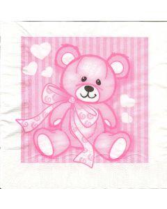 Bækkelund 33x33 Bamse stor rosa 3lags 20stk