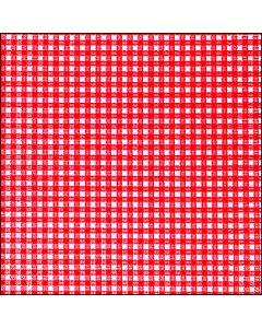Bækkelund serviet 33x33 - 20 stk - Pepita tern rød