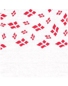 Papirdug 50x1,2 m - hvid med flag