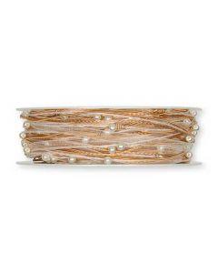 Organzabånd m/wire kobber 0,05x15m