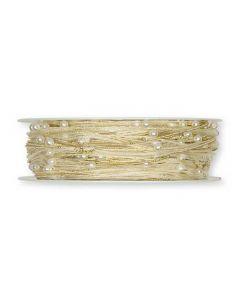 Organzabånd m/wire guld 0,05x15m
