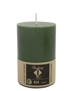 Økologisk bloklys Mørk Oliven 7x10cm - 100% Stearin
