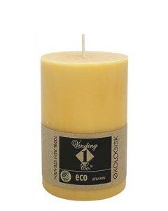 Økologisk bloklys Okker 7x10cm - 100% Stearin