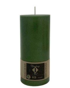 Økologisk bloklys Mørk Oliven 7x15cm - 100% Stearin