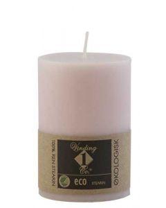 Økologisk bloklys Old Rose 7x10cm - 100% Stearin