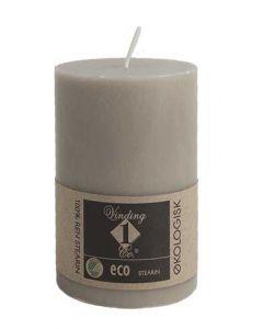 Økologisk bloklys Hør 7x10cm - 100% Stearin