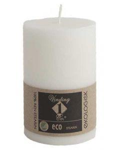 Økologisk bloklys Hvid 7x10cm - 100% Stearin