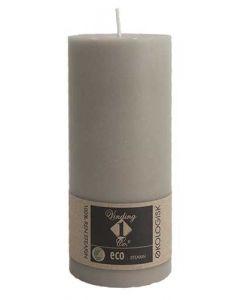 Økologisk bloklys Hør 7x15cm - 100% Stearin