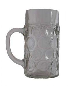 Ølkrus med hank 1 L