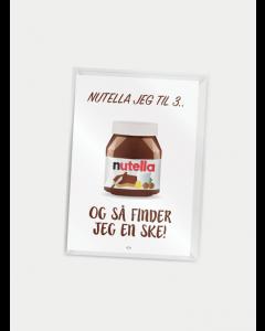 Citatplakat A7 - Nutella jeg til 3