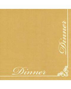 IHR Serviet 40x40 Dinner for Dinner Guld 12stk