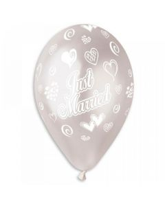 Ballon Premium 5stk - Just Married