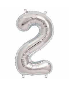 Ballon tal sølv nr.2 - 41cm