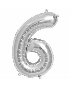 Ballon tal sølv nr.6 - 36cm