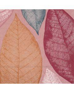 IHR Frokostserviet 33x33cm 3-lags 20stk - Big Leaves Rød