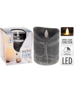 Bloklys LED 10x7,5cm grå