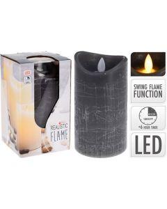 Bloklys LED 7,5x15cm grå