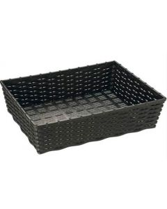 Brødkurv 40x30x10cm sort