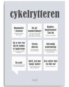 Dialægt Kort - Cykelrytteren