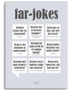 Dialægt Plakat - Far-Jokes