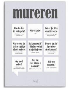 Dialægt Plakat - Mureren