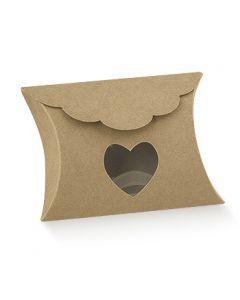 Æske genbrugspapir med hjerte 10 stk