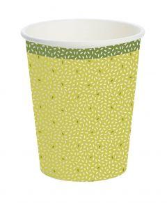 Duni Kaffebæger Rice 10stk - Grøn