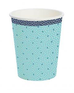Duni Kaffebæger Rice 10stk - Lyseblå