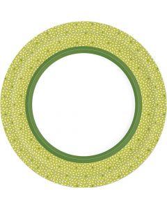 Duni Paptallerken Ø22cm 10stk - Rice Grøn