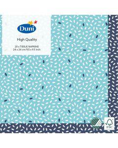 Duni kaffeserviet 24x24 20stk - Rice Blue