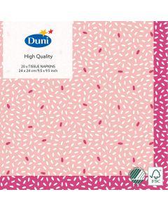 Duni kaffeserviet 24x24 20stk - Rice Pink