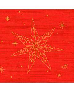 Duni Serviet 24x24 50stk - Star Stories Rød