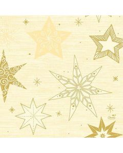 Duni serviet 33x33 50stk - Star Stories buttermilk